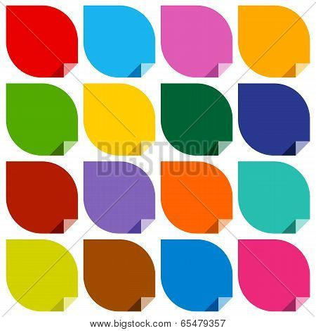 colored blank stickers