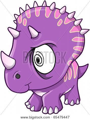 Crazy Insane Dinosaur Vector Illustration
