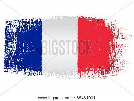 Brushstroke Flag France