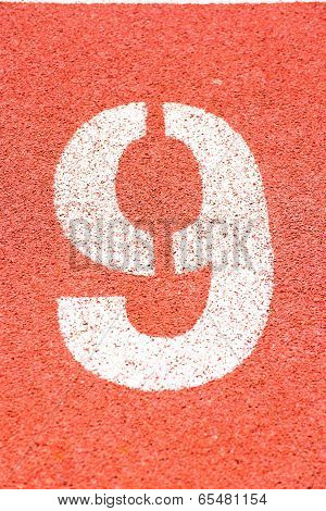 Number on the running track
