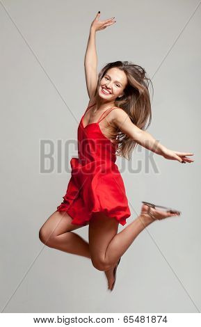 girl in a jump