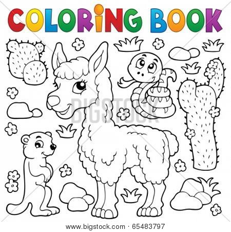 Coloring book with cute animals 4 - eps10 vector illustration.