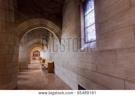 Corridor In St Johns Church.