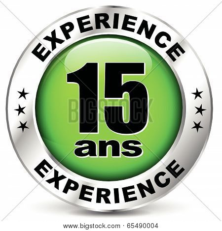 Fifteen Years Experience Icon