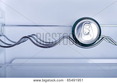 Cans of soft drink in a Refrigerator