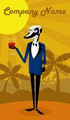picture of badger  - Badger wine taster is holding a glass of wine - JPG