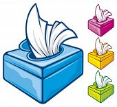 picture of tissue box  - tissue boxes vector illustration - JPG