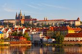 foto of bohemian  - Prague view on Gradchana early in the morning - JPG