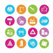 stock photo of habilis  - set of 16 construction icons set - JPG