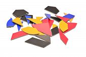 image of tangram  - tangram cardboard puzzle game isolated on white - JPG