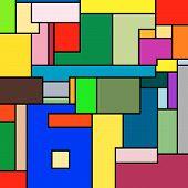 Mondrian Texture poster