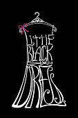 image of little black dress  - Typography Dress Design - JPG