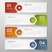picture of web template  - Design clean number banners template - JPG