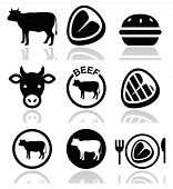 picture of bbq food  - Food icons set  - JPG