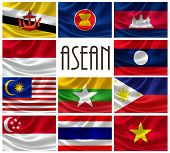 stock photo of malaysia  - 3D rendering of Association Of Southeast Asian Nations  - JPG