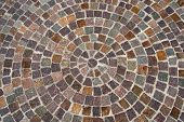 image of porphyry  - Geometric floor with multi colored blocks of porphyry  - JPG