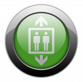 pic of elevator icon  - Icon Button Pictogram Image Illustration with Elevator symbol - JPG