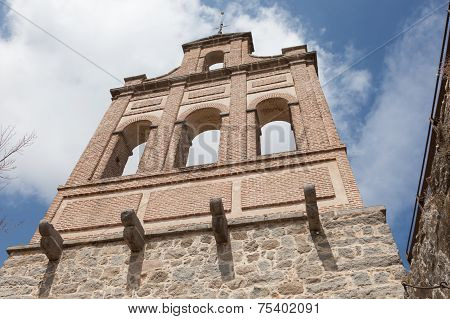 Ancient Bell Tower In Avila
