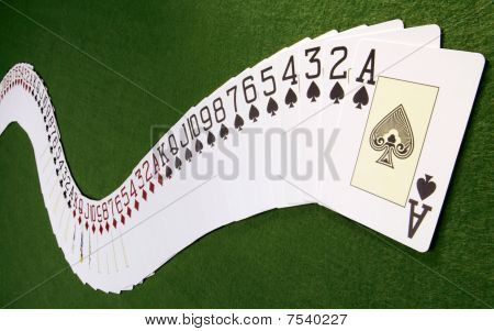 deck of card spread out
