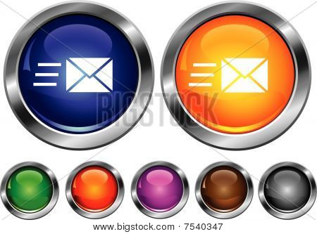 Vector Collection Icons With Speed Mail Sign
