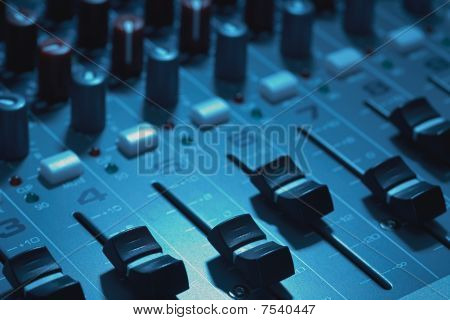 Mixing board console
