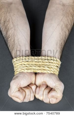 Wrists Tied With Rope