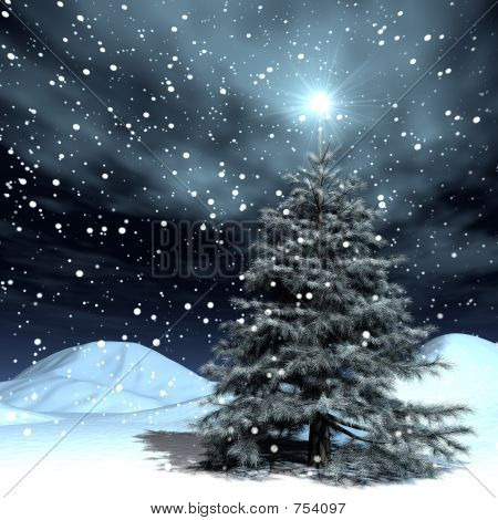 snowing xmas