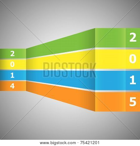 Abstract Colorful Banner With 2015