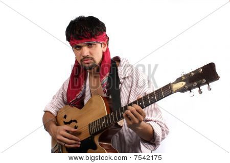 Stylish Indian Guitarist