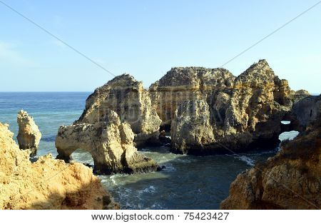 Ponta Da Piedade spectacular rock formation in Portugal