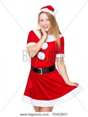 Sweet girl with Christmas dressing