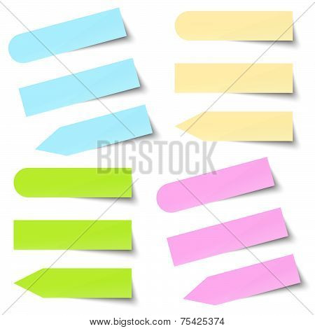Collection Of Colored Note / Memo Blank