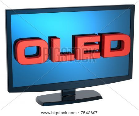 Black Lcd tv monitor on white background