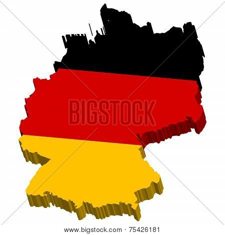 Germany Map 3D