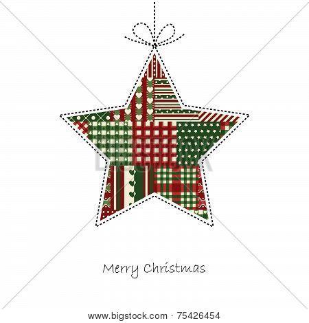 Star - Christmas Card Vector