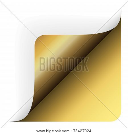 Paper - Bottom Corner Rounded Up Gold