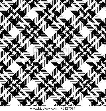 Checkered Tablecloths Pattern Black - Endless