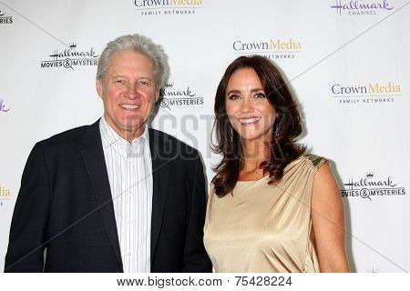 LOS ANGELES - NOV 4:  Verena King, Bruce Boxleitner at the Hallmark Channel's
