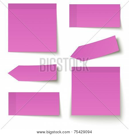 Collection Of Adhesive Notes Red