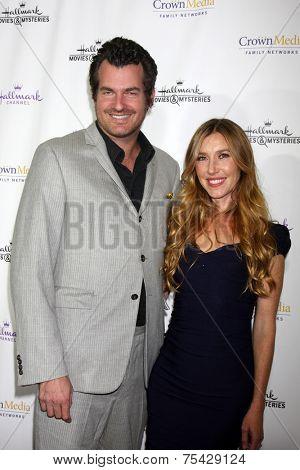 LOS ANGELES - NOV 4:  Katherine Flynn, husband at the Hallmark Channel's