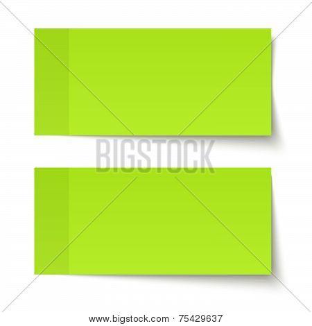 Set Of Sticky Notes Green