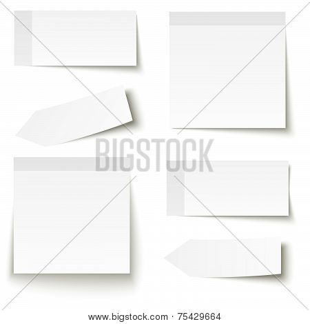 Collection Of Adhesive Notes White
