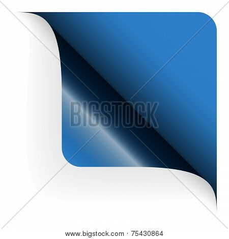 Paper - Top Corner Rounded - Blue