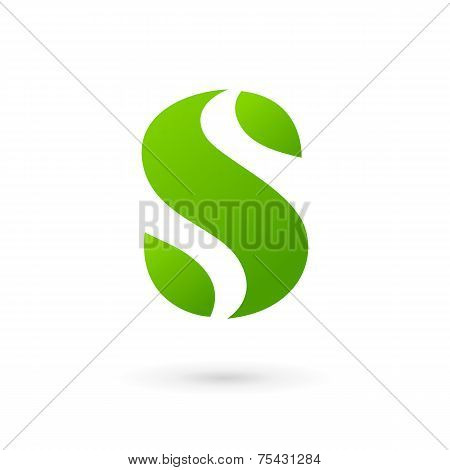 Letter S Eco Leaves Logo Icon Design Template Elements
