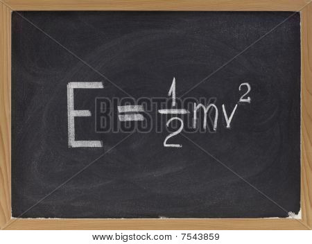 Kinetic Energy Equation On Blackboard