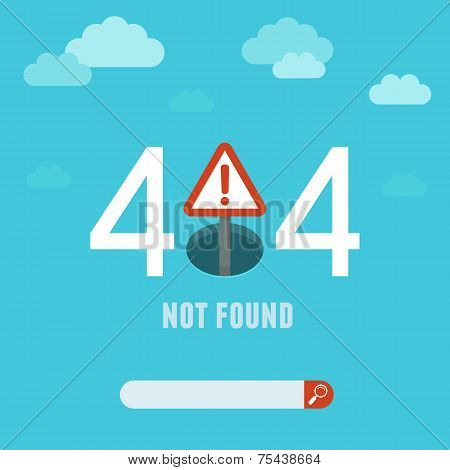 Vector 404 Error Page Template