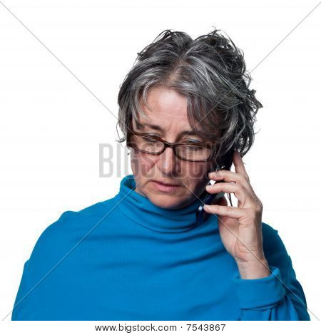 Lady Talking On The Phone