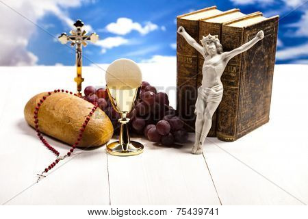 Holy Communion Bread, Wine