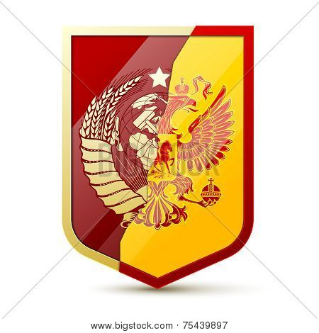 Coat of arms Soviet Union and Russia