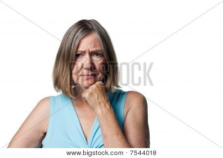 Older Woman Worried About Money